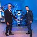 Ulrich Spiesshofer, CEO von ABB und Alejandro Ageg, Gründer und CEO der Formel E