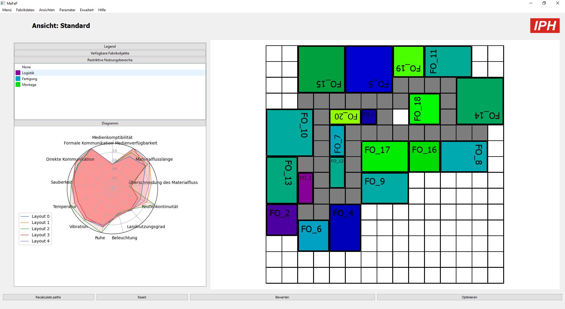 Per Klick zur Fabrik: Dieses Groblayout hat die Open-Source-Software MeFaP automatisch generiert und bewertet. (Quelle: IPH) Quelle: IPH
